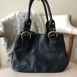 Croft & Barrow black leather bag